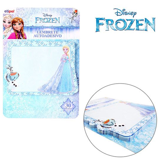 KIT COM 2 BLOCOS AUTOADESIVO / STICKER PARA RECADO RETANGULAR FROZEN
