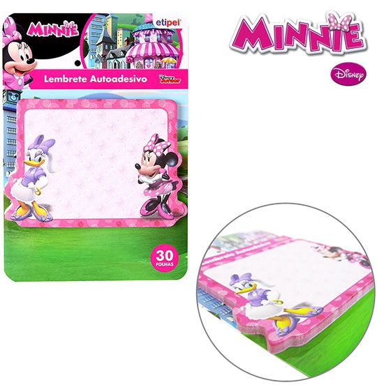 KIT COM 2 BLOCOS AUTOADESIVO / STICKER PARA RECADO RETANGULAR  MINNIE