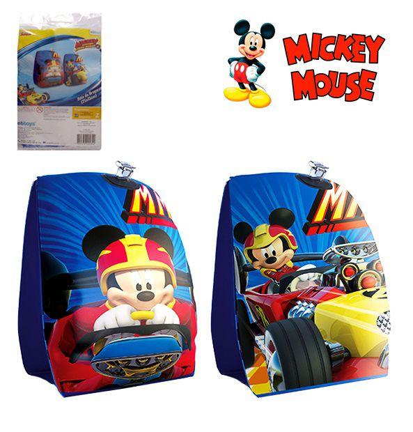 Boia de Braço Inflável Infantil Mickey Mouse Disney 23X15 cm