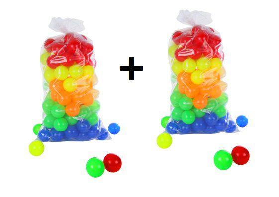 Bolinha de Plástico Colorida  para Piscina com 200 Unidades