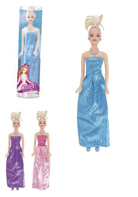 Boneca Cindy Princesa com Vestido de Festa e Coroa