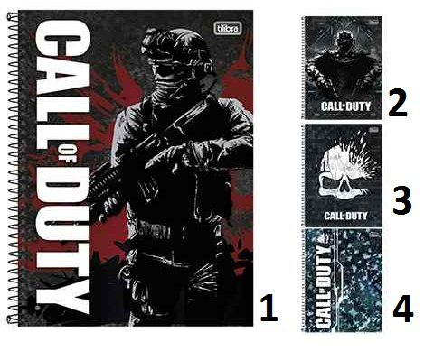 CADERNO CALL OF DUTY UNIVERSITÁRIO (1X1) 96 FOLHAS