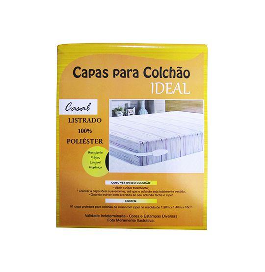 CAPA DE COLCHÃO CASAL POLIÉSTER 190X140X18CM