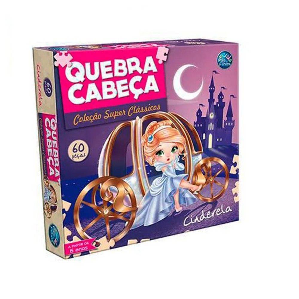 QUEBRA-CABEÇA CINDERELA 60 PEÇAS - PAIS & FILHOS