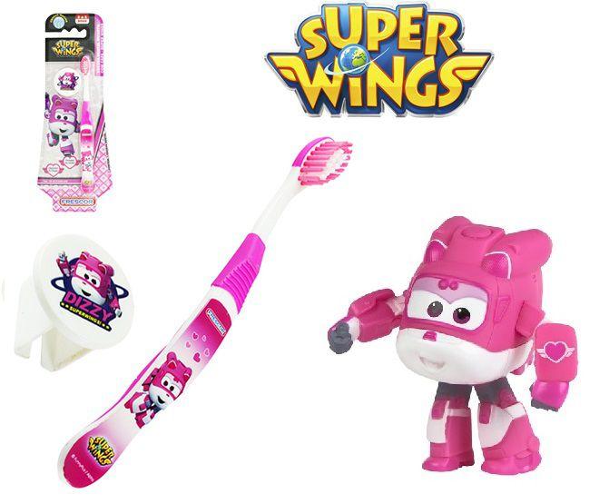 Escova dental Infantil Cerdas Macias com Capa Protetora Super Wings - Dizzy