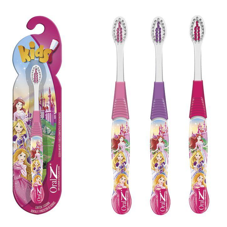 Escovas dental Infantil Cerdas Macias  - Princesas