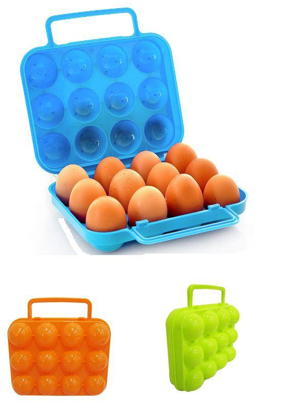 Estojo Maleta Box Porta Ovos com 12 Cavidades para Academia ou Trabalho Facilidade e Praticidade