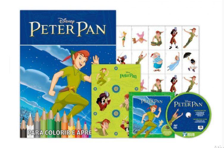 KIT 5 EM 1 PETER PAN DISNEY - COM DVD EXCLUSIVO