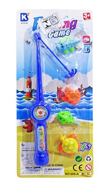 Kit Pescaria Varinha Pega Peixe com 4 Peças Fishing Game