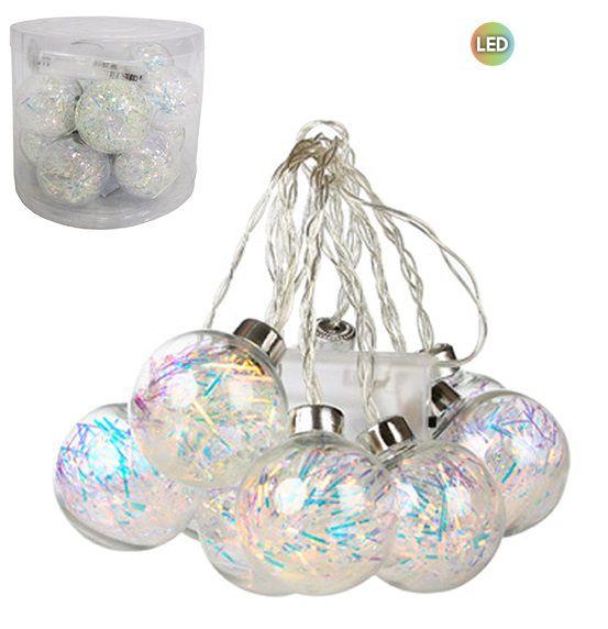 Pisca Pisca com 10 Bolas de 5 cm Cada com Lampadas de Led Decorativa 2 MT