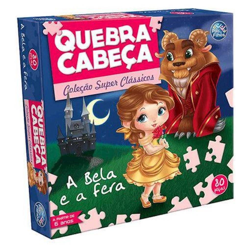 QUEBRA-CABEÇA A BELA E A FERA 60 PEÇAS - PAIS & FILHOS