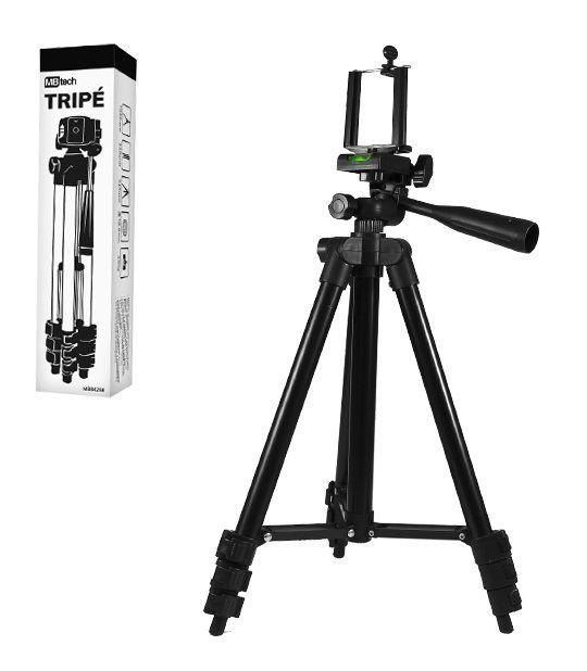 Suporte Tripé de Alumínio para Celular / Câmera com Nível 1,02 mt