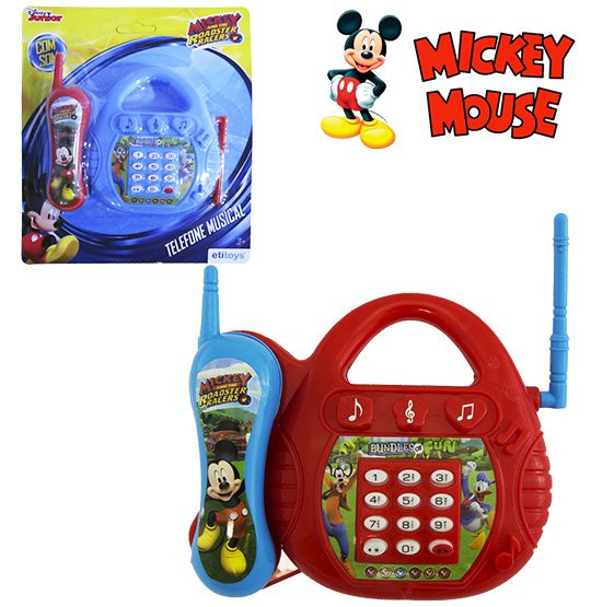 TELEFONE MUSICAL INFANTIL MICKEY A PILHA COLORS