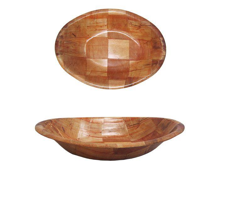 Travessa Oval de Madeira Grande 31,5 x 22,8 cm