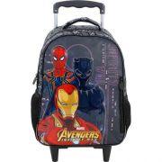 Mochila De Carrinho Escolar Avengers - 7470