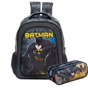 Kit Mochila de alça e Estojo Batman