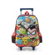Mochila com carrinho Escolar Jovens Titans Go - IC34282TG