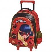 Mochila Com Carrinho Escolar Miraculous Ladybug - 966N01