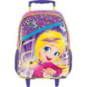 Mochila com carrinho Escolar Polly Pocket - 8710