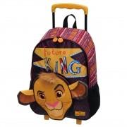 Mochila Com Carrinho Escolar Rei Leão - 921C01