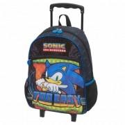 Mochila Com Carrinho Escolar Sonic Speed Dots - 989B01