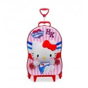 Mala Escolar / Viagem Infantil Hello Kitty Cheerleader