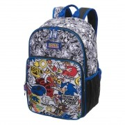 Mochila De Costas Sonic Stickers - 7890204