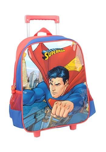 Mochila De Carrinho Escolar Superman Vermelho - IC32882SM