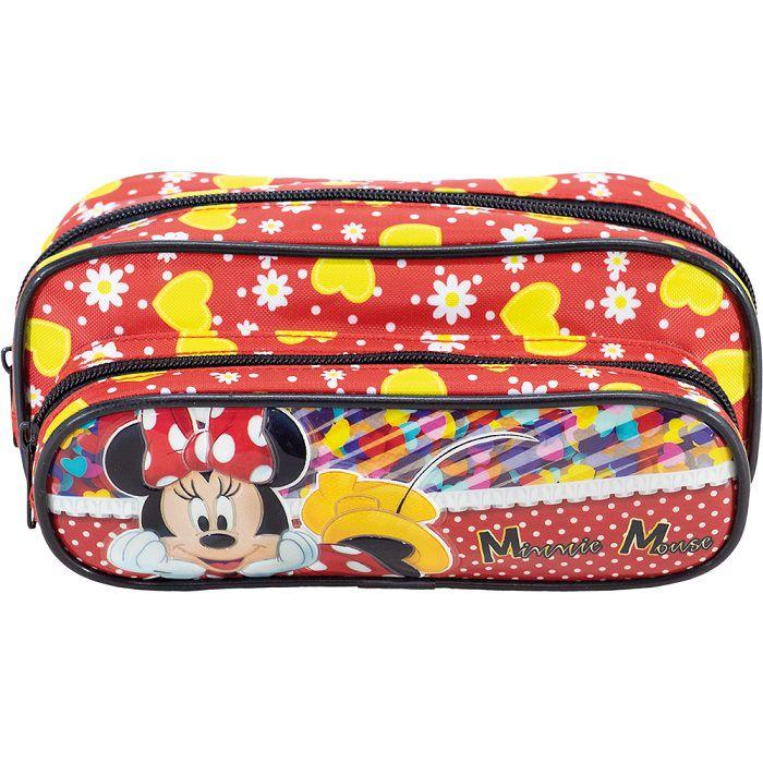 Estojo Minnie Mouse Com Dois Compartimentos - 8925