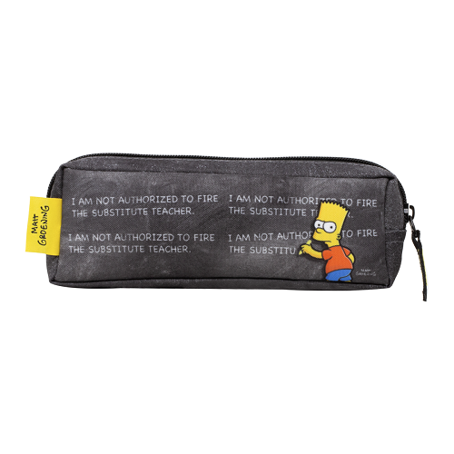 Estojo Simpsons Triangul Chalkboard - 7403813