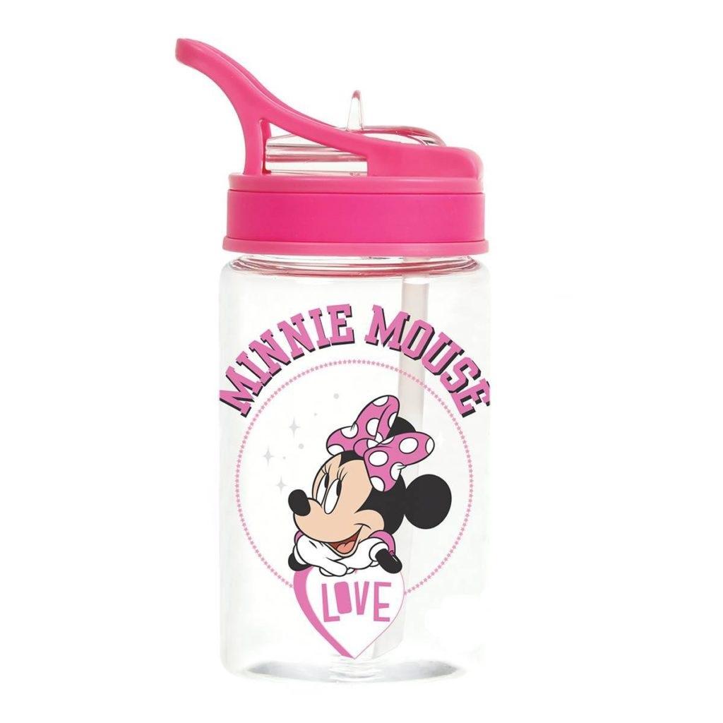 Garrafa Com Canudo 350ml Minnie Mouse