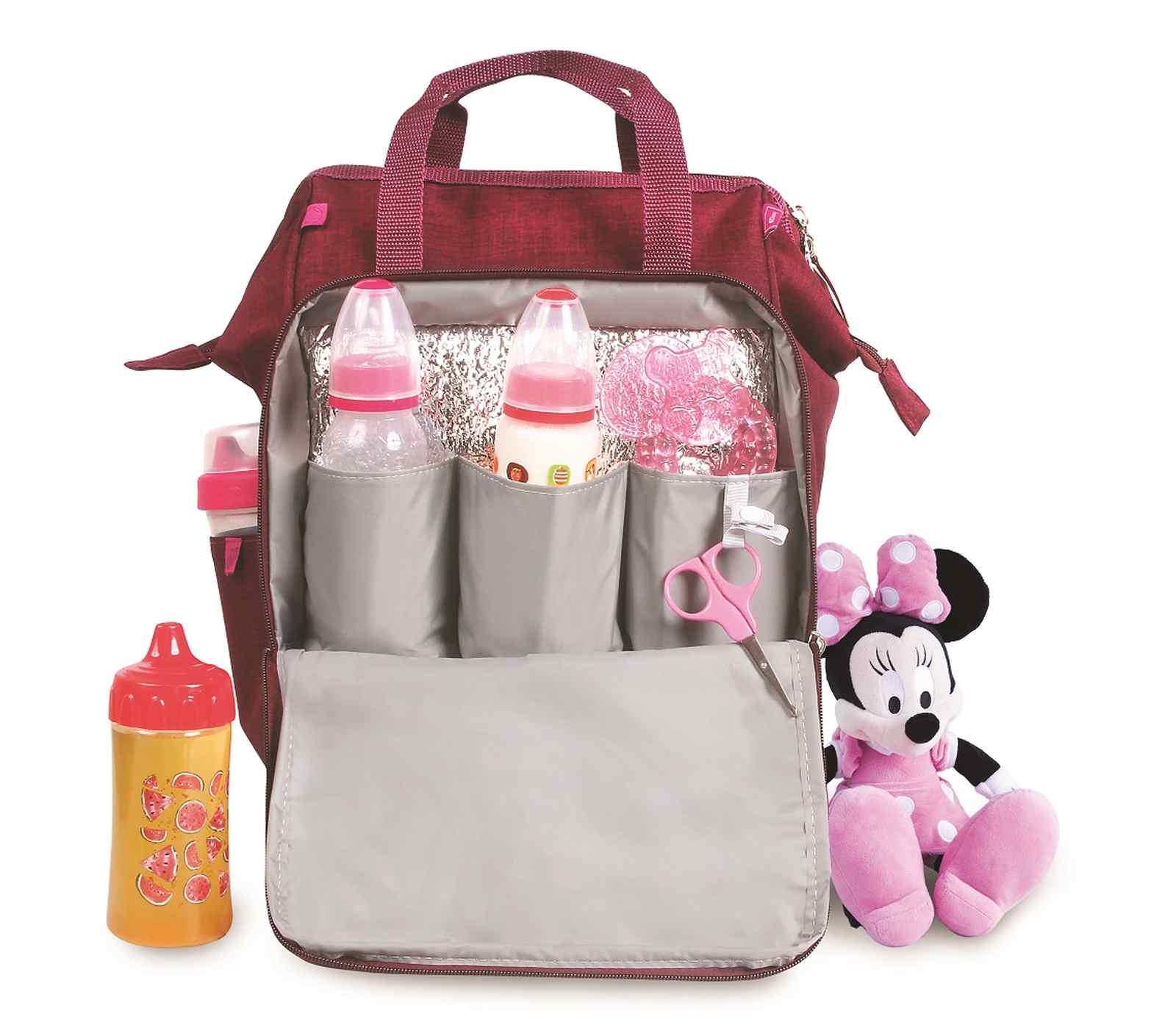 Kit Bolsa Maternidade e Porta Mamadeira Minnie Mouse