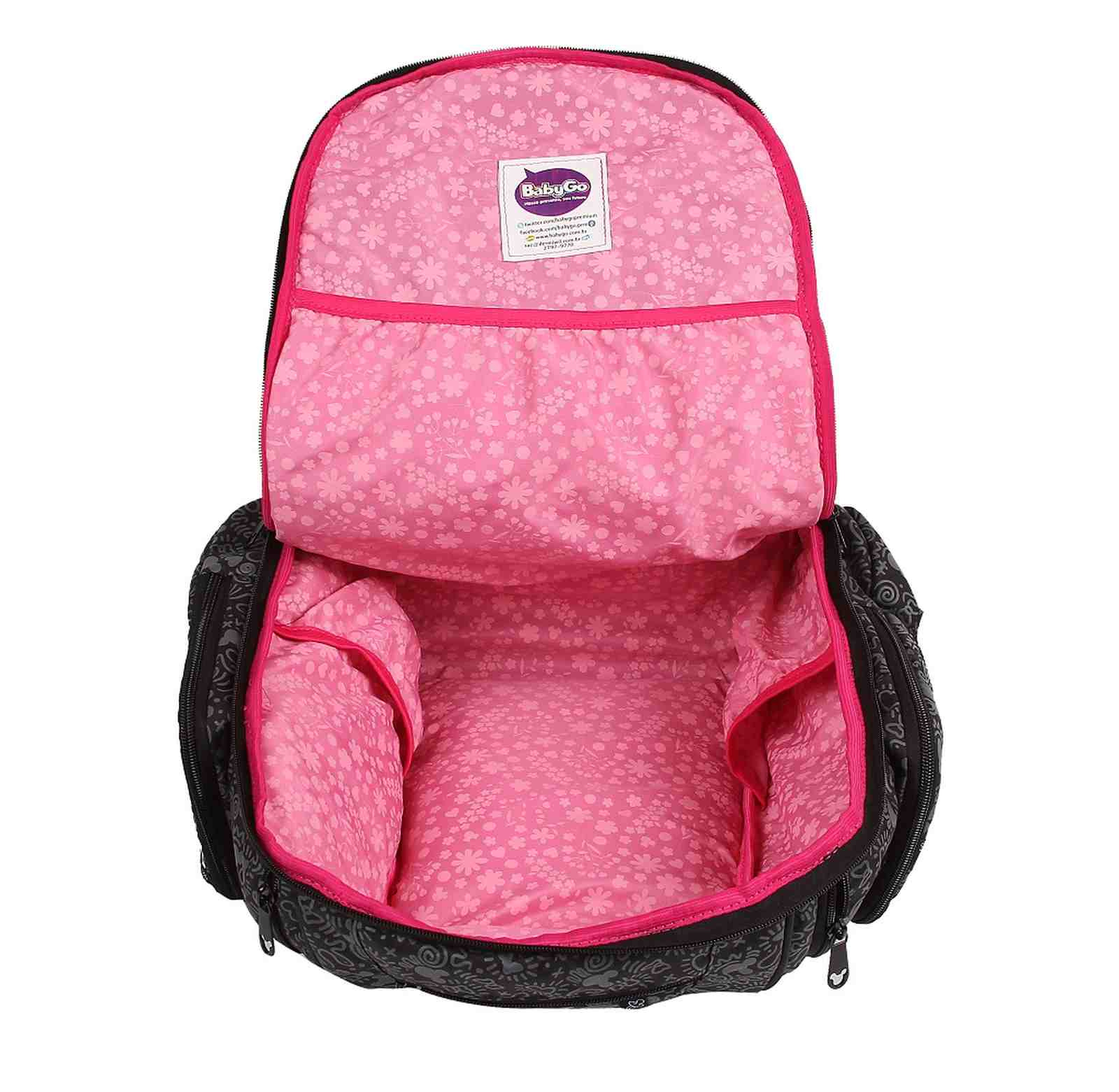 Kit Bolsa Maternidade e Porta Mamadeira Minnie Mouse PT