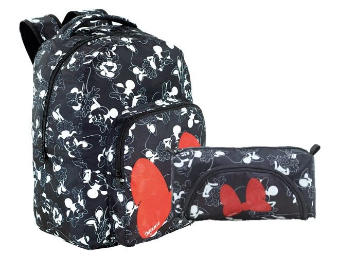 Kit Escolar Mochila e Estojo Minnie Mouse