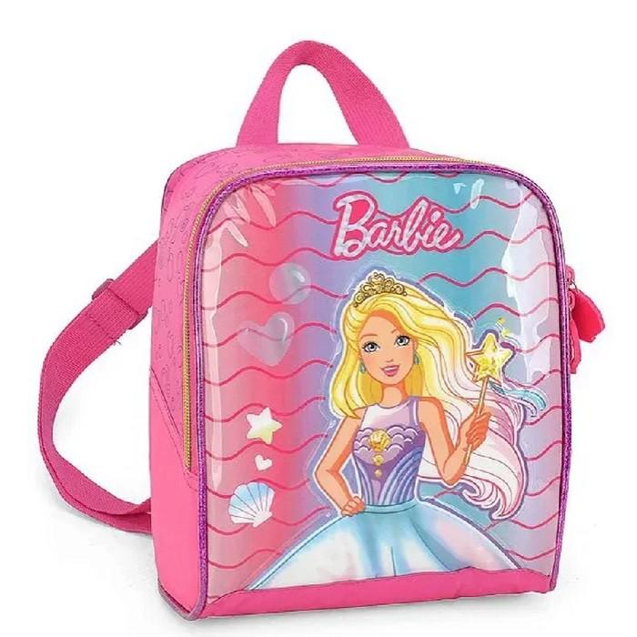 Kit Mala Escolar/Viagem, Lancheira, Garrafa Barbie