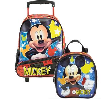 """Kit Mochila e Lancheira Mickey Mouse """"Hey Mickey"""""""