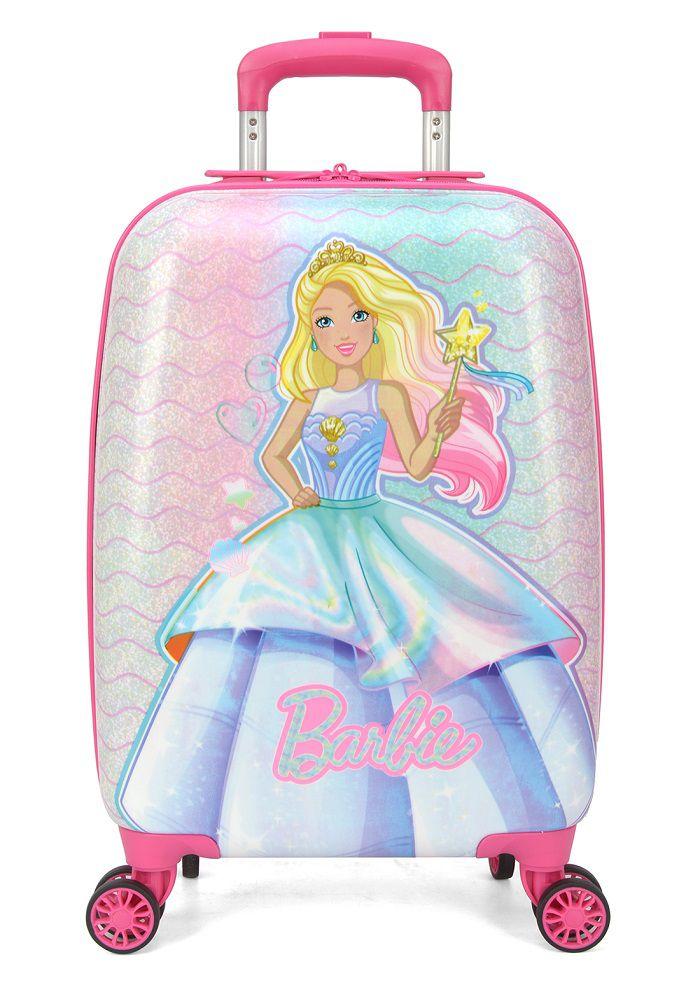 Mala Escolar/Viagem Infantil Barbie - Tam P de Bordo C/ Cadeado, MF10263BB