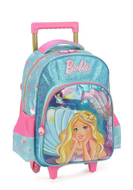 Mochila Carrinho Escolar Barbie - IC34422BB