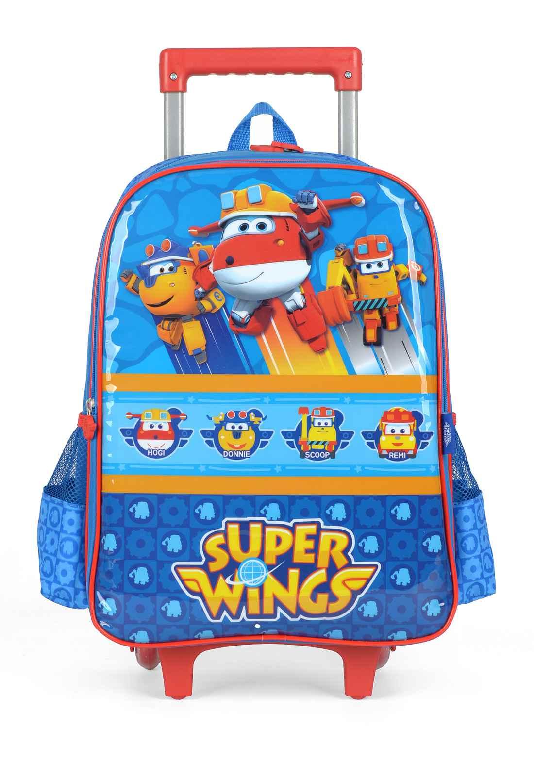 Mochila Carrinho Escolar Super Wings - IC35242SW