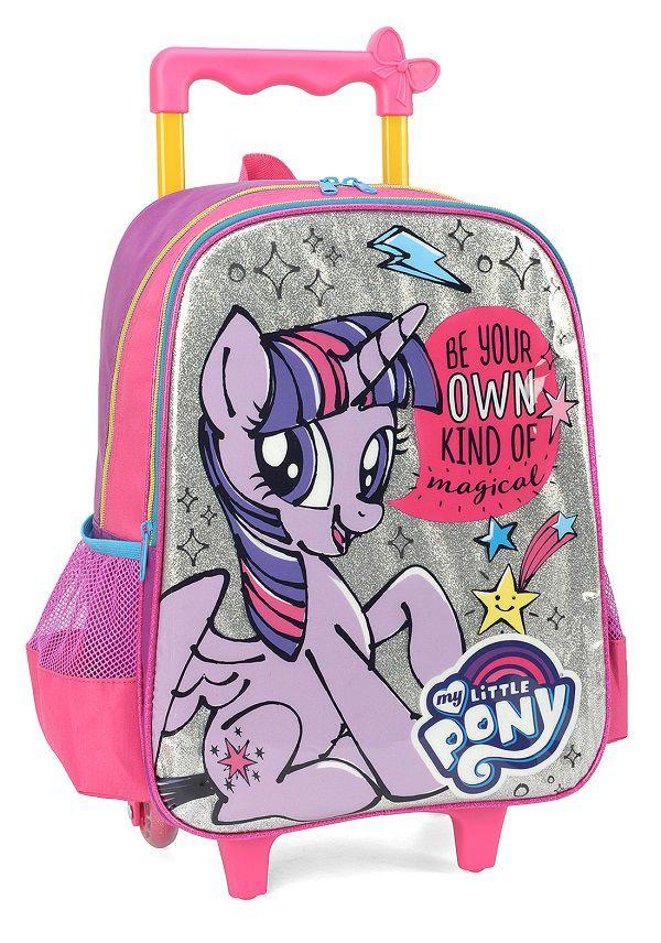 Mochila com Carrinho Escolar My Little Pony - IC34152PN