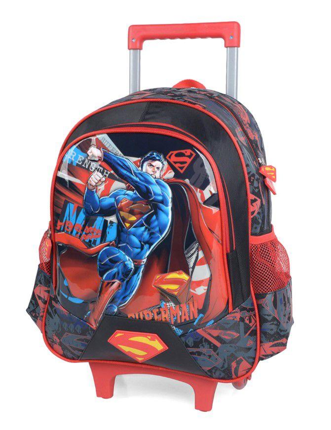 Mochila De Carrinho Escolar Superman