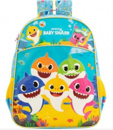 Mochila Escolar Baby Shark Family - 9032