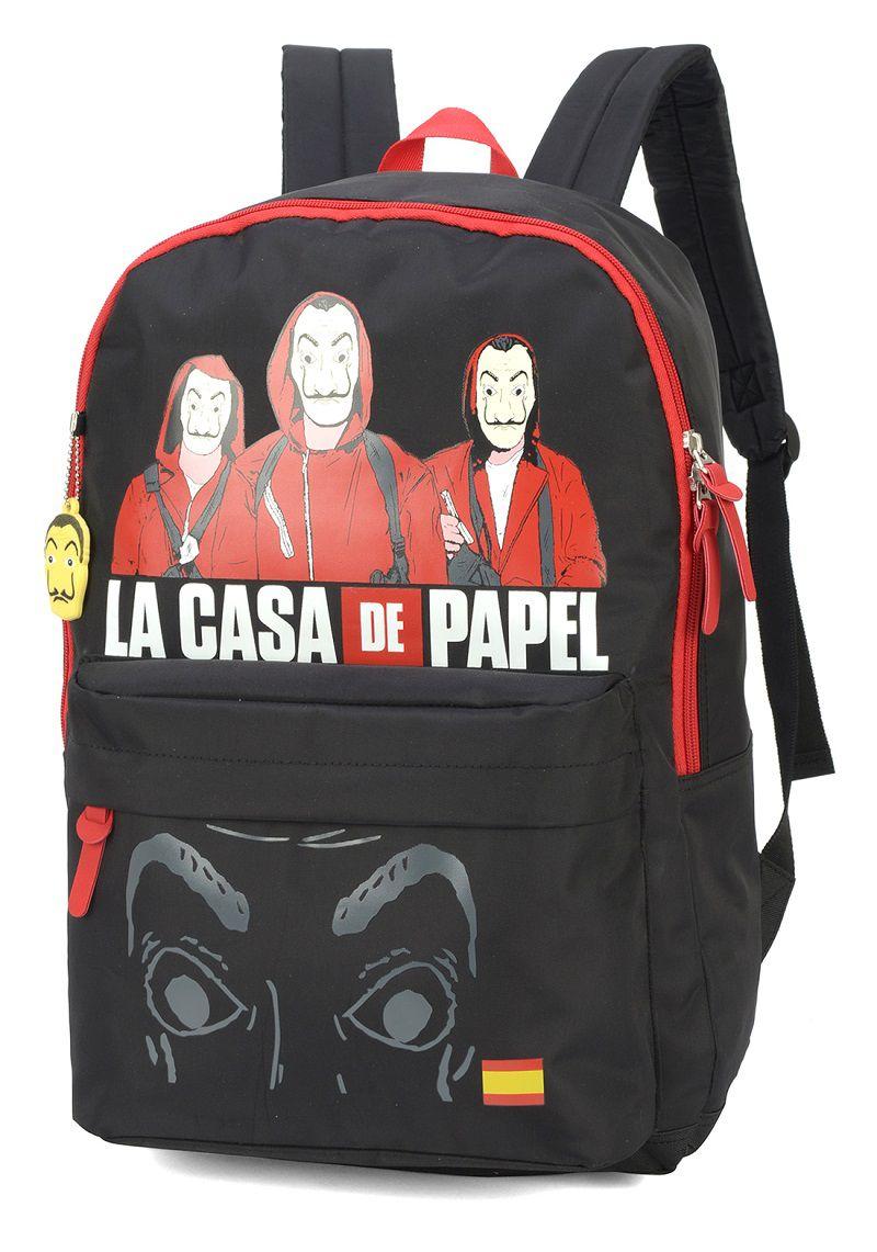 Mochila Escolar Notebook Juvenil  La Casa De Papel - MJ48734CP