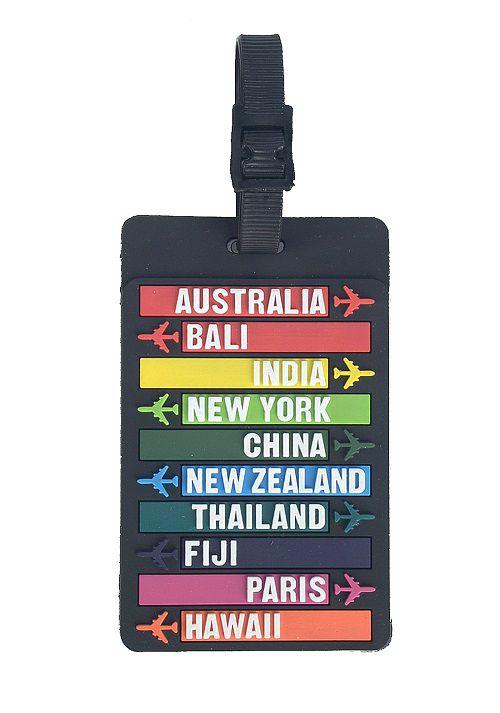 Tag para identificação de Malas de Viagem Polo King - Países