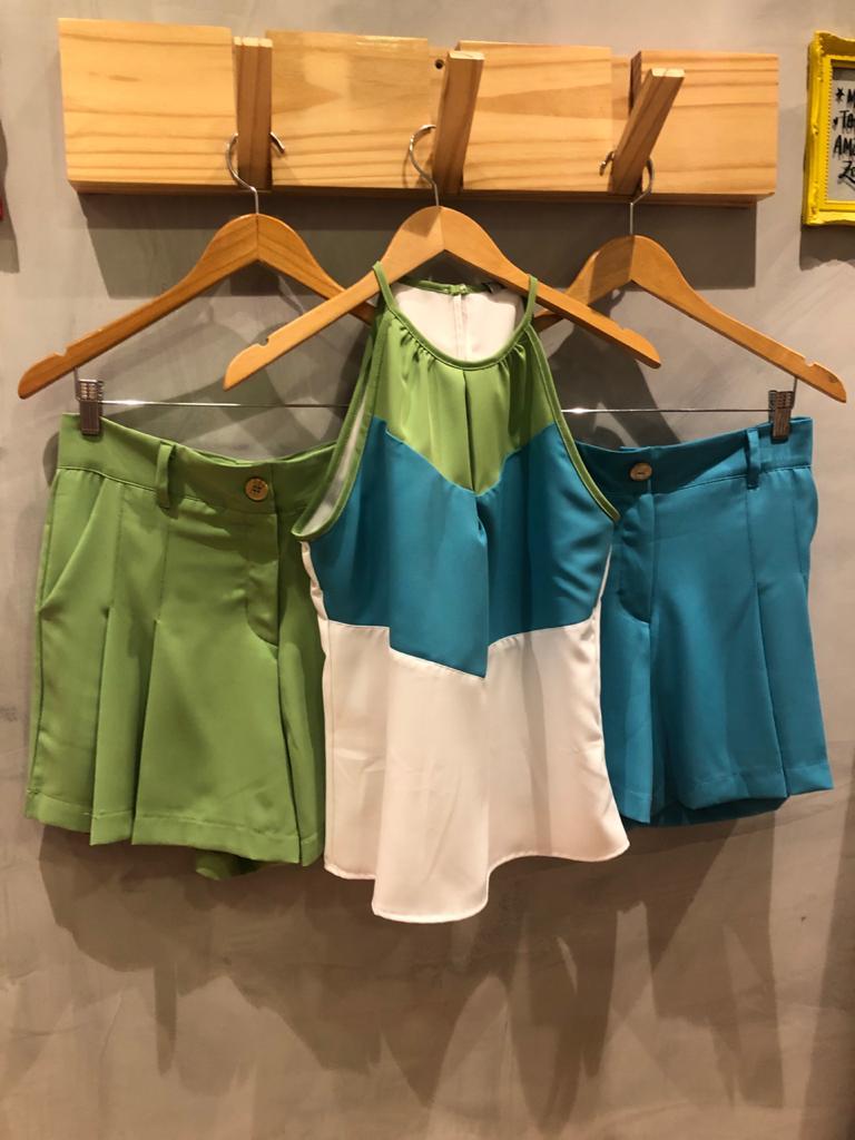 Blusa bicolor listra argo