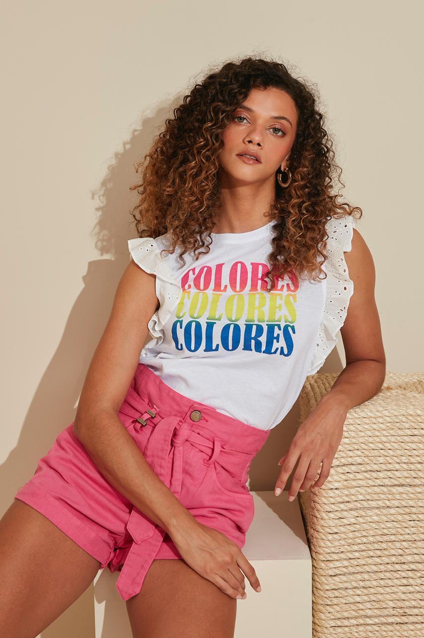 Blusa My Place Silk colores com laise