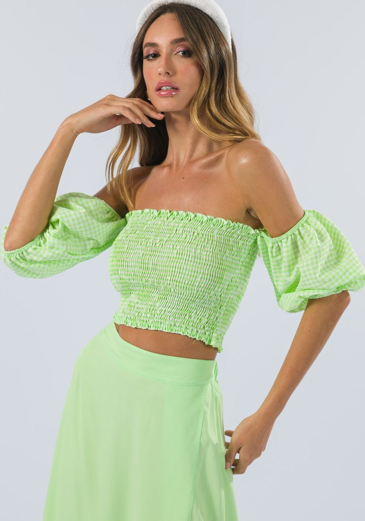 Blusa Myft Cropped ombro a ombro