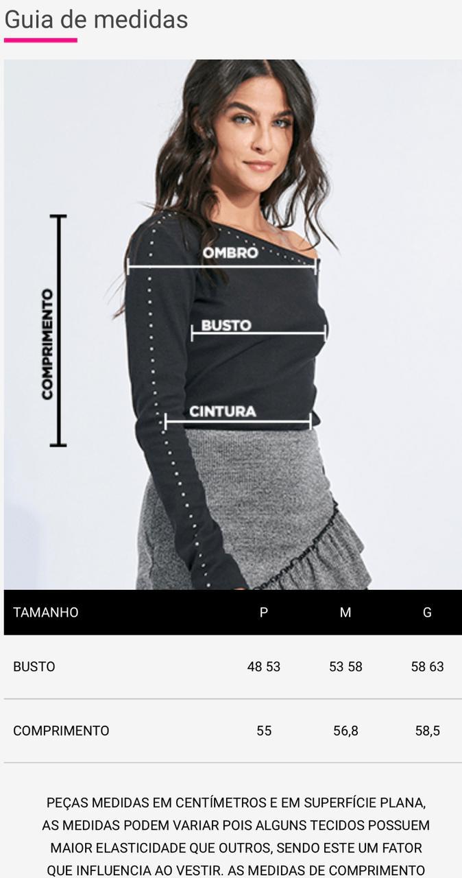 Blusa Myft manga longa tricot