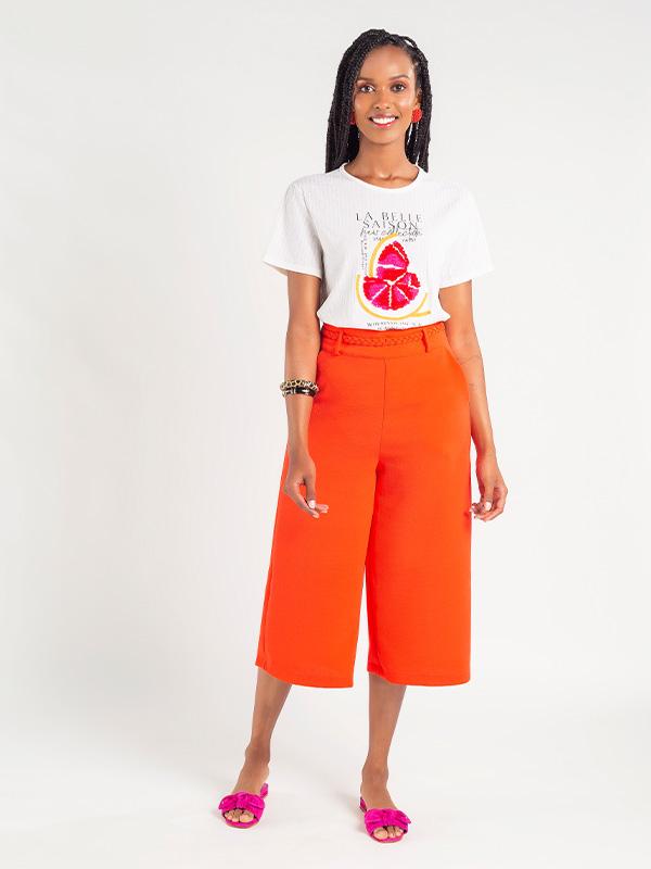 Blusa Naguchi canelada estampa limões