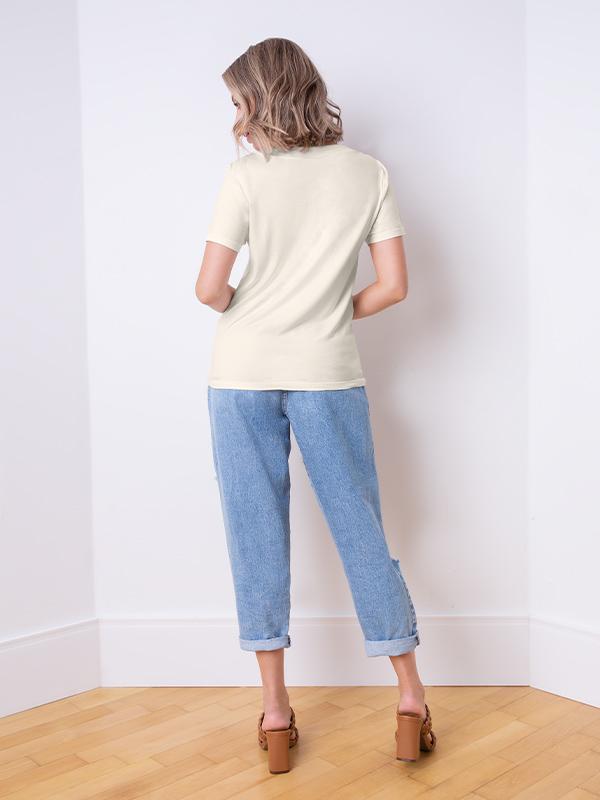 Blusa naguchi decote v basic